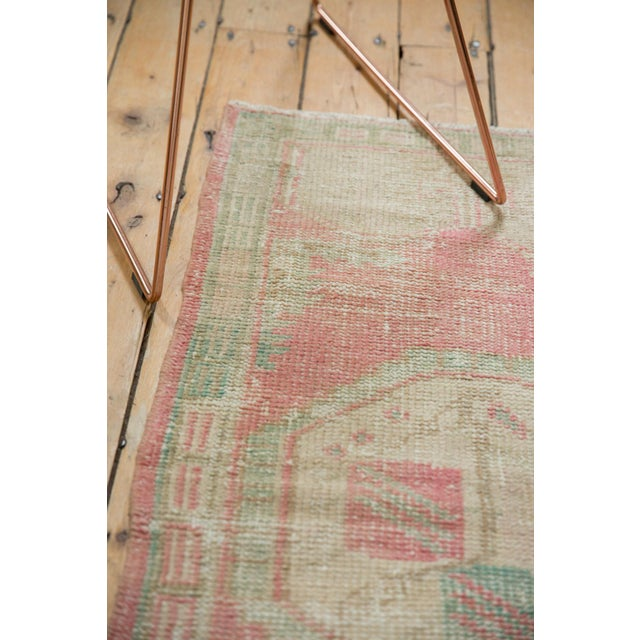 "Shabby Chic Vintage Distressed Oushak Rug Runner - 2'2"" X 4'3"" For Sale - Image 3 of 9"