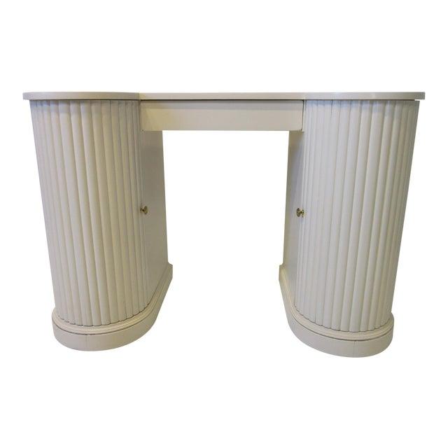 Mid Century Regency Styled Column Desk by Kittinger For Sale
