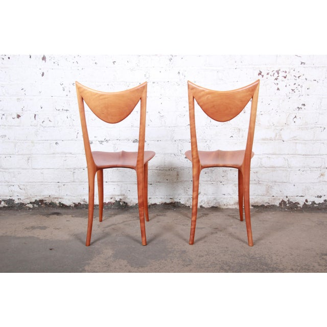 "Oskar Kogoj Studio Craftsman Sculptural ""Venetia"" Chairs - a Pair For Sale In South Bend - Image 6 of 13"