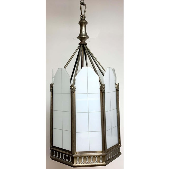 Silver Art Deco Octagon Lantern From the El Cid Theatre, Los Angles For Sale - Image 8 of 11
