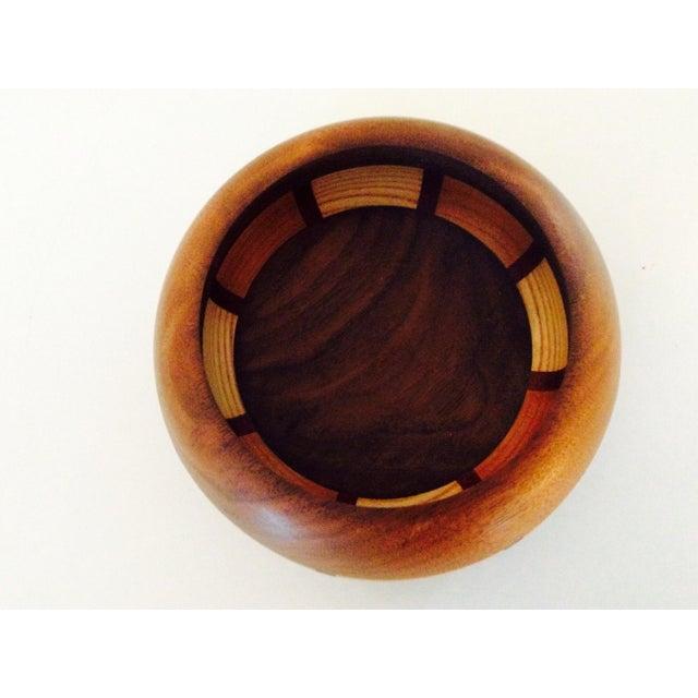 Mid-Century Style Wood Bowl - Image 8 of 9