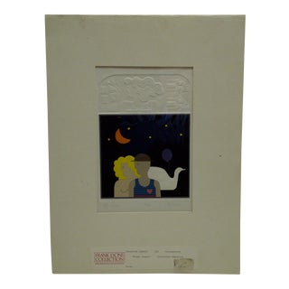 "20th Century Silkscreen Print ""Night Images"" by Christina Parrett"