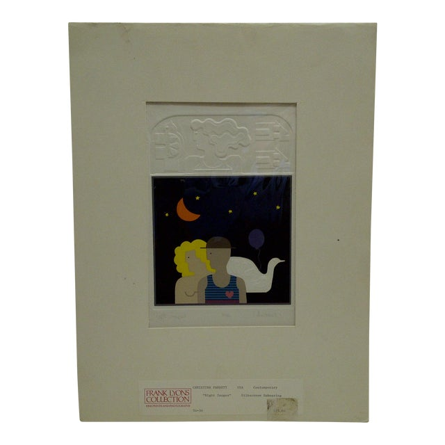 "20th Century Silkscreen Print ""Night Images"" by Christina Parrett For Sale"