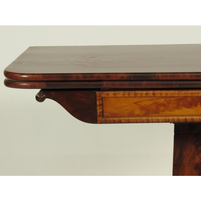 19th Century American Empire Card Table For Sale In Boston - Image 6 of 11