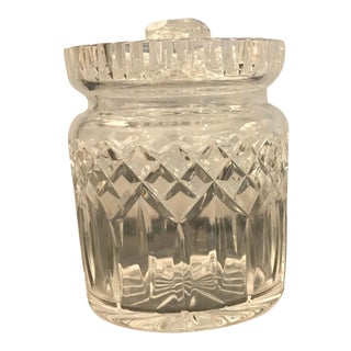 Waterfod Crystal Biscuit Jar For Sale