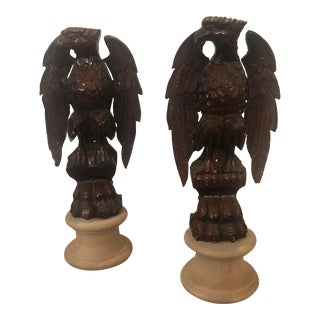 Wooden Fragments Depicting Eagles - a Pair For Sale