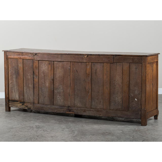 Mid 19th Century Antique French Louis XV Period Carved Oak Enfilade For Sale - Image 11 of 11