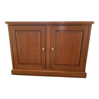 Traditional Cherrywood Media Storage Cabinet For Sale