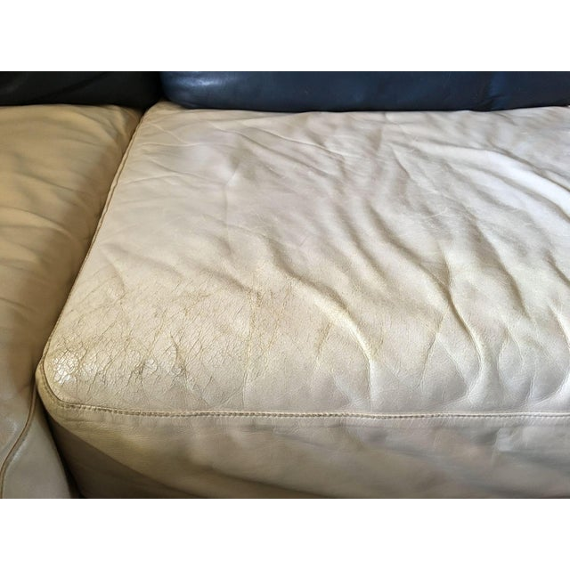 Vintage I4 Mariani Molto+Di Italian Leather Sectional For Sale In Houston - Image 6 of 9