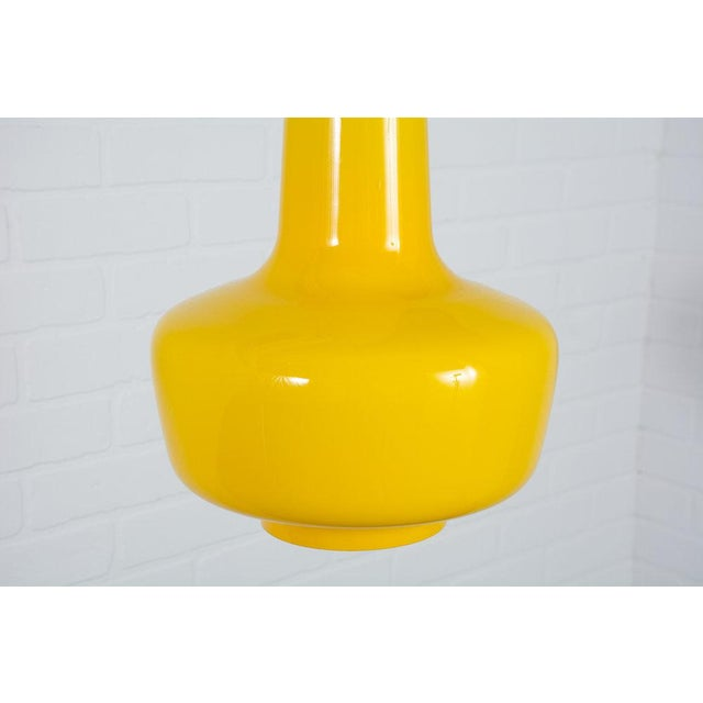 Jacob E. Bang Vintage Mid-Century Yellow 'Kreta' Pendant Lamp - Image 2 of 5