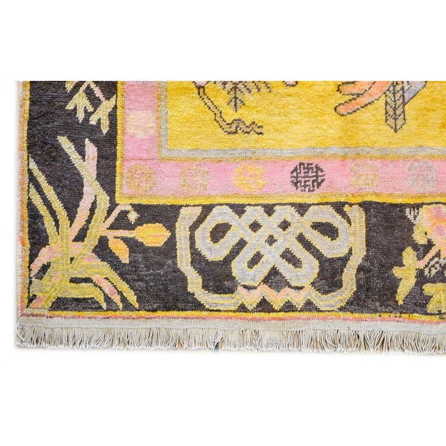 Early 20th Century Pictorial Khotan Rug - 4′4″ × 7′3″ - Image 5 of 6