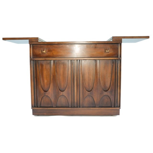Broyhill Brasilia Flip Top Bar Cart - Image 3 of 10