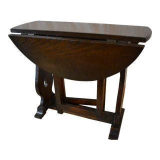 Early 20th Century English Drop Leaf Side Table For Sale