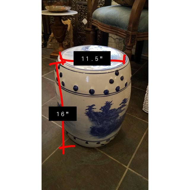 Late 20th Century Late 20th Century Vintage Chinese Porcelain Garden Stool For Sale - Image 5 of 6