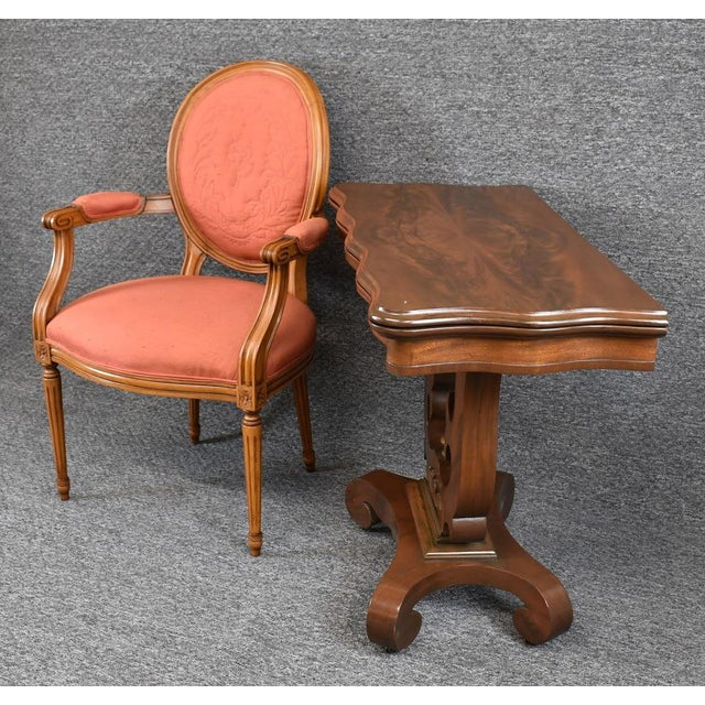 19th Century American Empire Game Table Console Table For Sale - Image 4 of 12