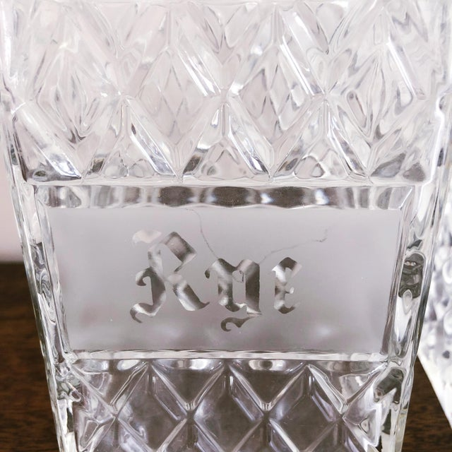 Vintage Crystal Scotch and Rye Decanters For Sale - Image 4 of 8