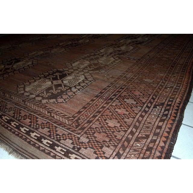 1900s handmade antique Afghan Ersari rug 8.6' X 11.8' For Sale - Image 11 of 13