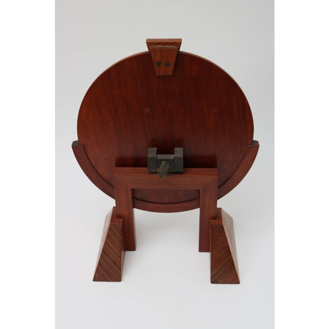 Vanity Table Mirror in Mahogany, Walnut and Brass by American Artisan For Sale In West Palm - Image 6 of 7
