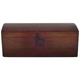 19th Century American Pine-Domed Top Storage Box For Sale