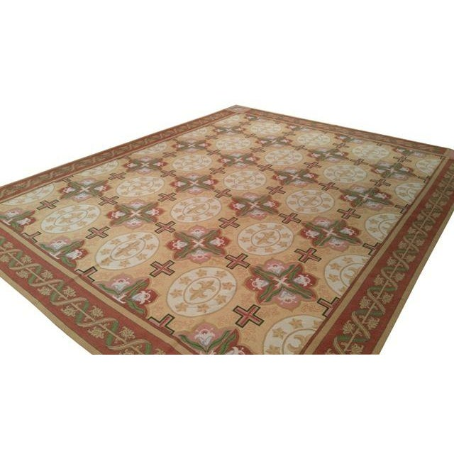 Infuse a touch of elegance to high-traffic areas of your home with this durable Modern Needlepoint rug in color of yellow,...