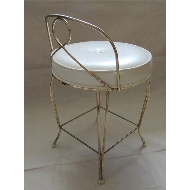 Vintage Brass Vanity Stool - Image 3 of 3