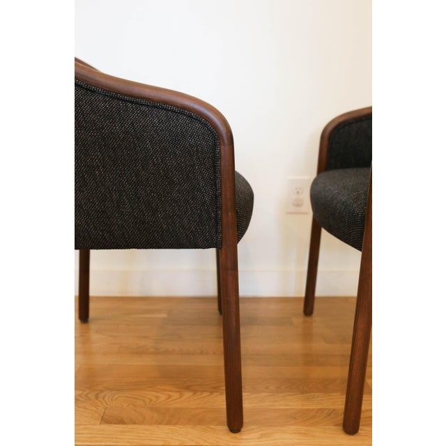 Ward Bennett 1960's Vintage Ward Bennet for Brickell Upholstered Club Chairs- Set of 6 For Sale - Image 4 of 7