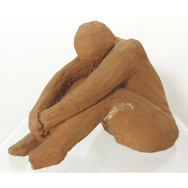 1978 Vintage Seated Terracotta Figure - Image 3 of 11