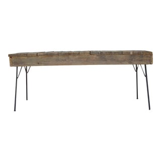 1970s Rustic Console Table For Sale