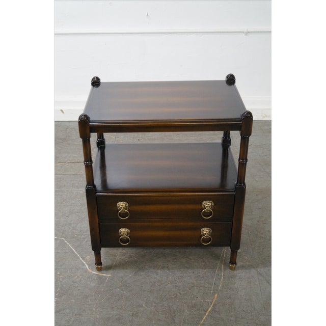 Regency-Style 2-Drawer Side Table - Image 2 of 10