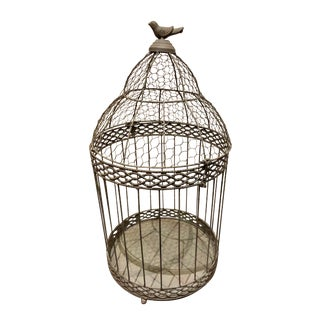 Chicken Wire & Iron Dome Birdcage For Sale
