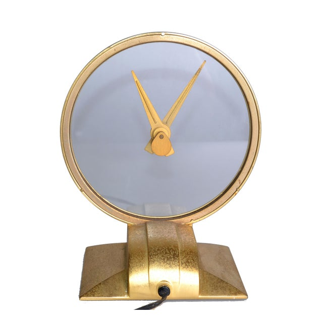 Mid-Century Modern Jefferson Golden Hour Electric Clock For Sale - Image 3 of 7