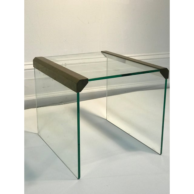 Late 20th Century 1970s Pace Collection Waterfall Side Tables or Accent Tables - a Pair For Sale - Image 5 of 6
