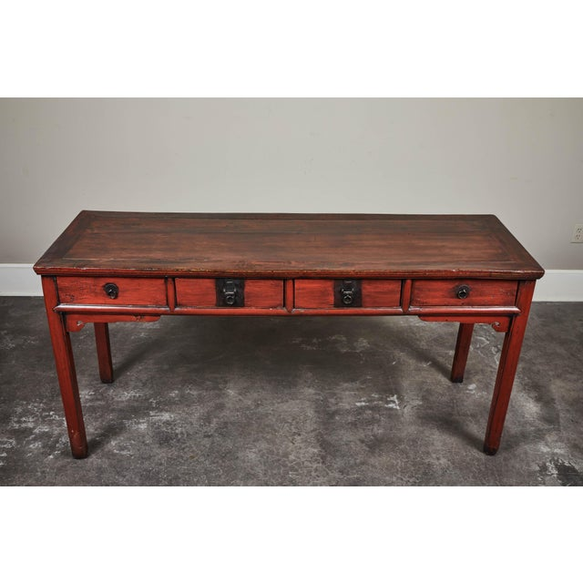Mid 19th Century 19th C. Cinnabar Lacquer Console For Sale - Image 5 of 9
