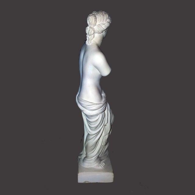 Alabaster Venus De Milo Statue For Sale - Image 4 of 7