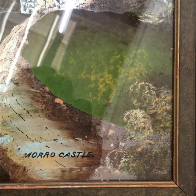 Painting of Castle - Reverse Painting on Glass For Sale In Providence - Image 6 of 6