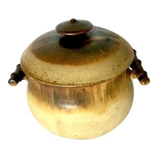 1970s Vintage Ceramic Studio Pottery Serving Bowl by William Creitz For Sale