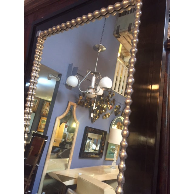 Traditional 1960s Vintage Black & Silver Leaf Mirror For Sale - Image 3 of 8