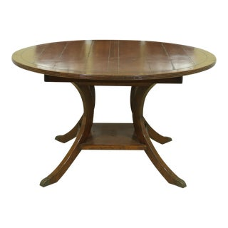 Guy Chaddock Round Distressed Finish Dining Room Table For Sale