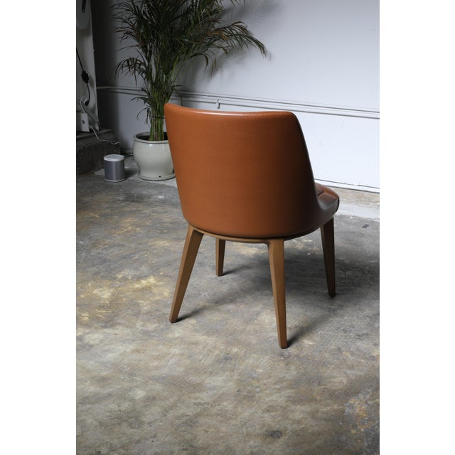 Cumberland Furniture Mid-Century Modern Cumberland Clover Brown Upholstered Maple Base Guest Chair For Sale - Image 4 of 8