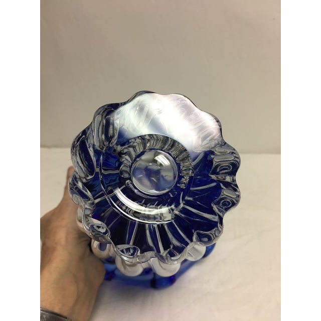 Tiffin Copen Blue Art Glass Vase - Image 5 of 6