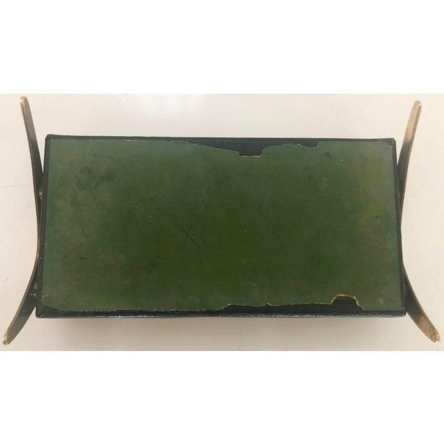 Leather/Brass Atomic Jewelry Box - Image 10 of 11