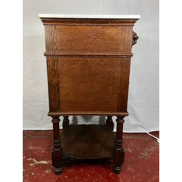 Late 19th Century Pair of Oak Belgian 19th Century Side Tables For Sale - Image 5 of 13