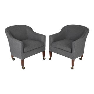 1950's Vintage Barrel Back Chairs- A Pair For Sale