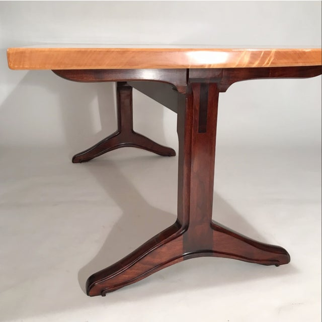 Custom Trestle Dining Table designed by Jack Dunbar For Sale In New York - Image 6 of 6
