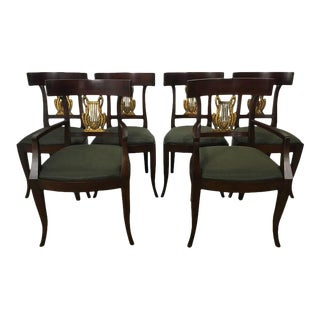 Directoire Style Dining Chairs - Set of 6