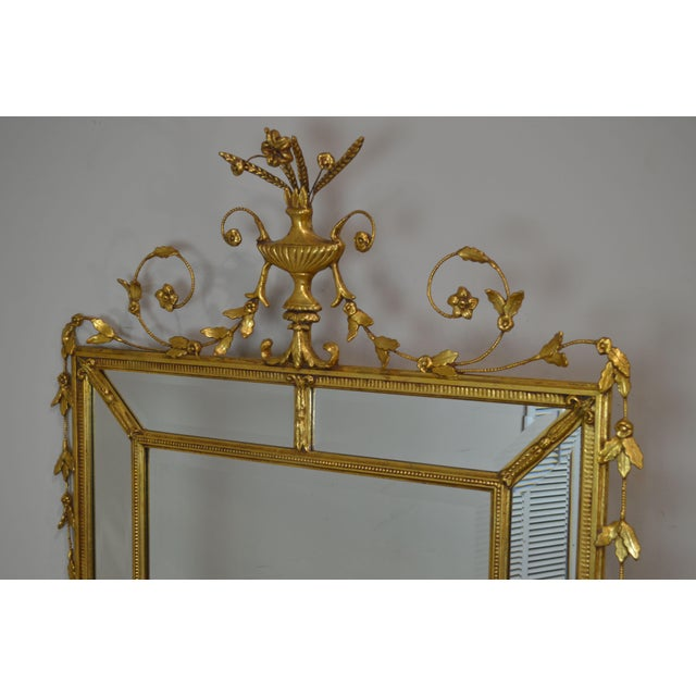 """Gold Friedman Brothers Gold Gilt Frame Louis XVI Style """"The Dorset-Cromwell"""" Mirror For Sale - Image 8 of 12"""