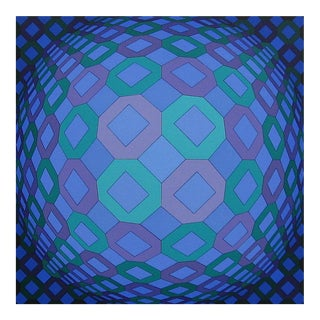 Victor Vasarely OKTA-POS 1974 For Sale