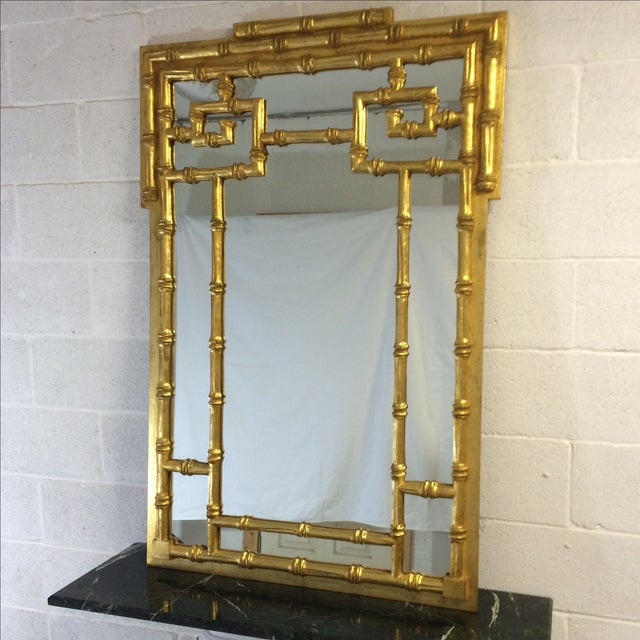 Gold Bamboo-Style Mirror - Image 4 of 8