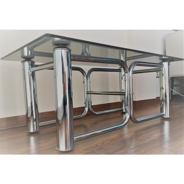 Mid-Century Modern Chrome Coffee Table - Image 8 of 11