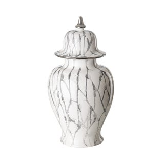 Medium Marbleized Urn For Sale